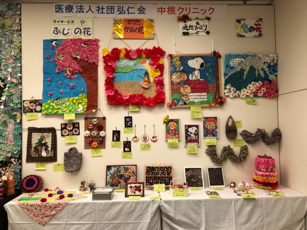 今年は壁画のテーマが春夏秋冬です!! 今日から21日日曜日まで展示します!!